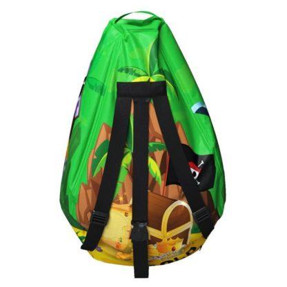 Мешок-рюкзак-подушка, спинка для тюбингов ST4, Small Rider Bags Пираты Зелёный - 4