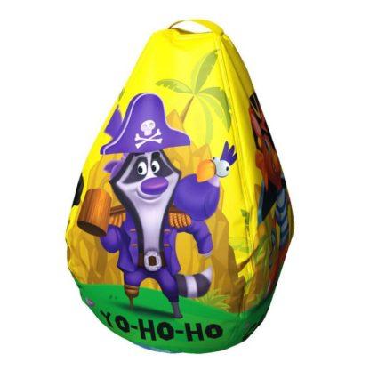 Мешок-рюкзак-подушка, спинка для тюбингов ST4, Small Rider Bags Пираты Жёлтый - 1