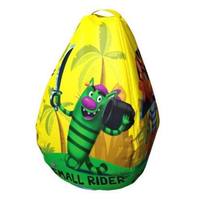 Мешок-рюкзак-подушка, спинка для тюбингов ST4, Small Rider Bags Пираты Жёлтый - 2