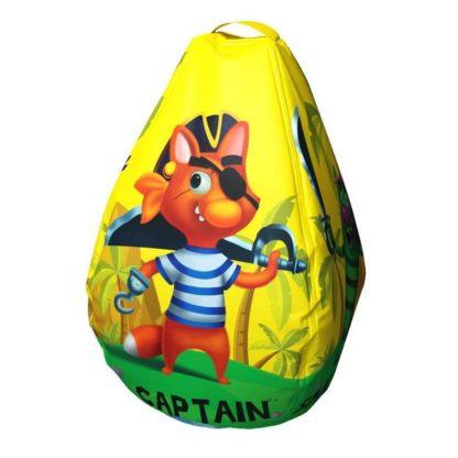 Мешок-рюкзак-подушка, спинка для тюбингов ST4, Small Rider Bags Пираты Жёлтый - 3