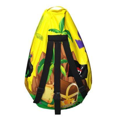 Мешок-рюкзак-подушка, спинка для тюбингов ST4, Small Rider Bags Пираты Жёлтый - 4