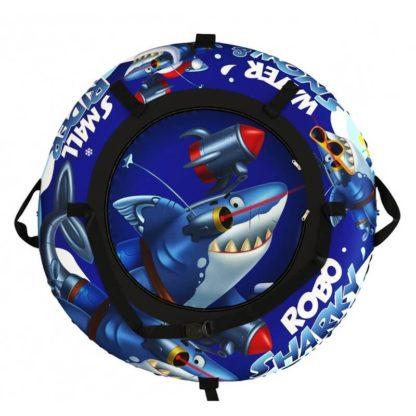 Тюбинг Small Rider Snow Tubes 4 Акула Робот 110 см Синий