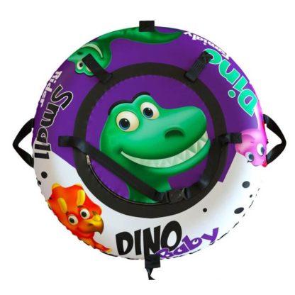 Тюбинг Small Rider Snow Tubes 4 Гнездо динозавра 100 см Фиолетовый