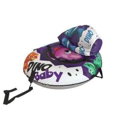 Тюбинг Small Rider Snow Tubes 4 Яйцо динозавра 110х95 см Фиолетовый - 4