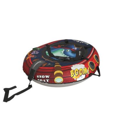 Тюбинг Small Rider Snow Tubes 4 Пираты 108х92 см Акула красный - 2