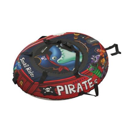 Тюбинг Small Rider Snow Tubes 4 Пираты 108х92 см Акула красный - 4