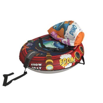 Тюбинг Small Rider Snow Tubes 4 Пираты 108х92 см Акула красный - 6