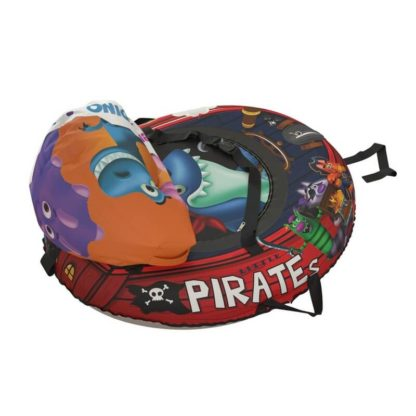 Тюбинг Small Rider Snow Tubes 4 Пираты 108х92 см Акула красный - 8
