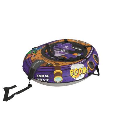 Тюбинг Small Rider Snow Tubes 4 Пираты 108х92 см Енот фиолетовый - 2
