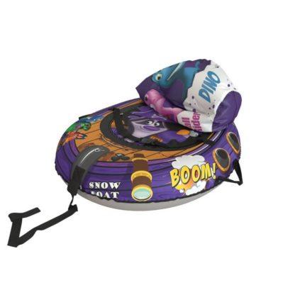 Тюбинг Small Rider Snow Tubes 4 Пираты 108х92 см Енот фиолетовый - 4