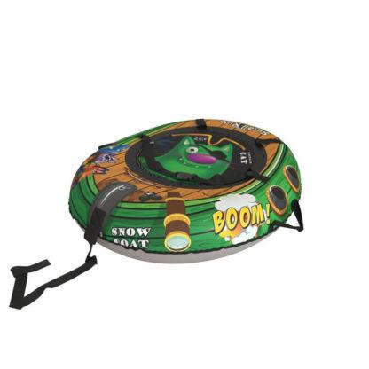 Тюбинг Small Rider Snow Tubes 4 Пираты 108х92 см Кот зелёный - 2