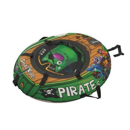 Тюбинг Small Rider Snow Tubes 4 Пираты 108х92 см Кот зелёный - 4