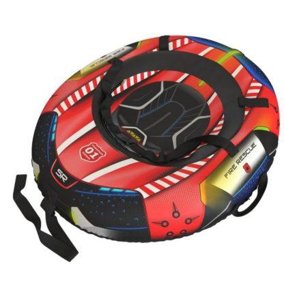 Тюбинг Small Rider Snow Tubes 4 Спасатели 100х75 см Красный пожарный - 1