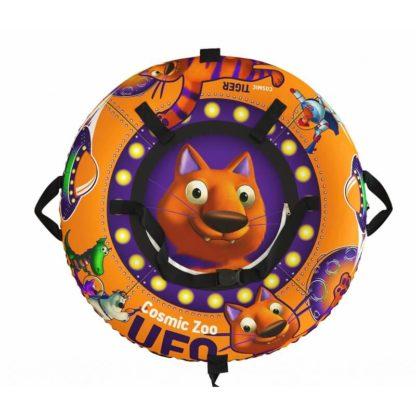 Тюбинг Small Rider Snow Tubes 4 UFO 100х100 см Оранжевый тигрёнок