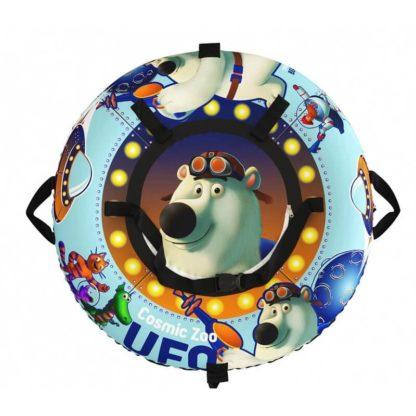 Тюбинг Small Rider Snow Tubes 4 UFO 100х100 см Синий медвежонок