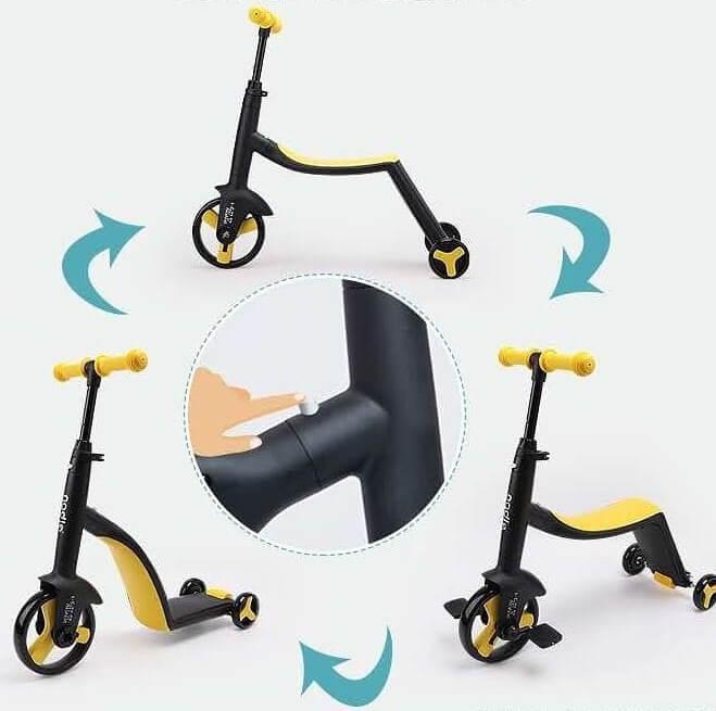 Трёхколёсный самокат-беговел-велосипед Nadle 3 в 1 - 2