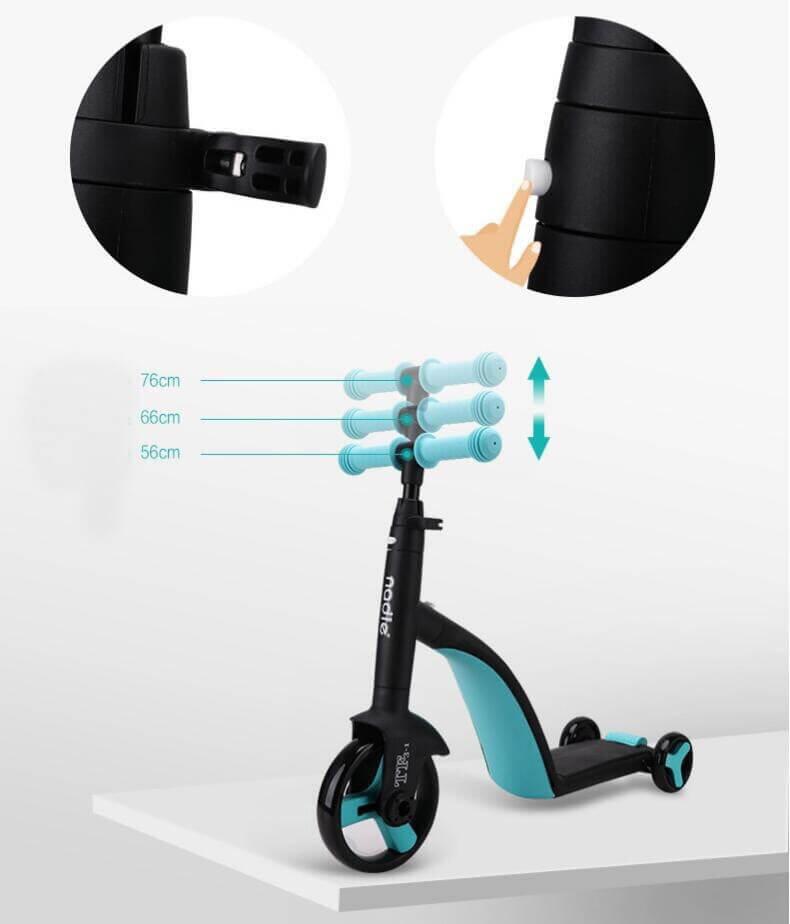 Трёхколёсный самокат-беговел-велосипед Nadle 3 в 1 - 3