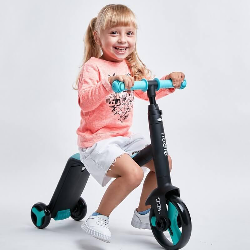 Трёхколёсный самокат-беговел-велосипед Nadle 3 в 1 - 4