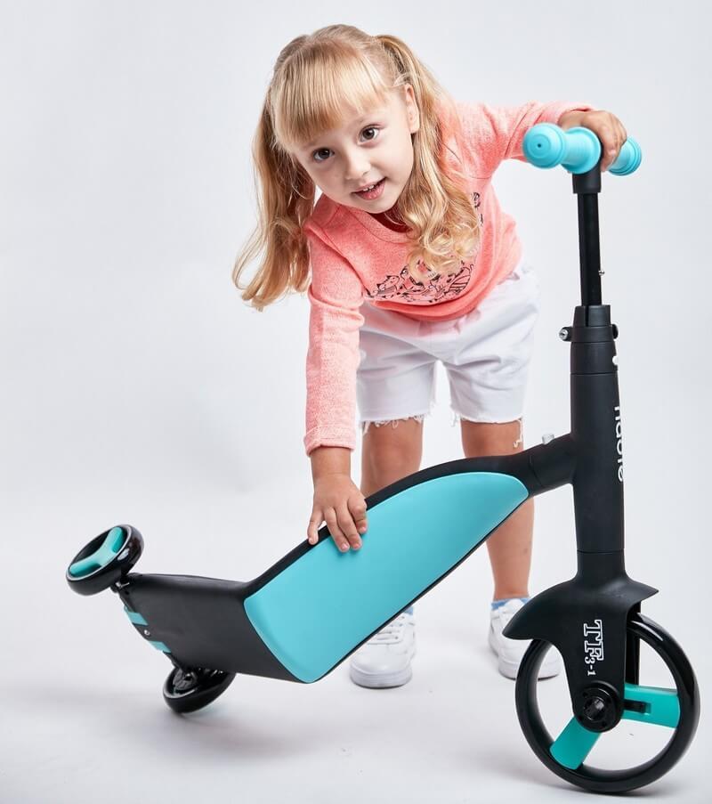 Трёхколёсный самокат-беговел-велосипед Nadle 3 в 1 - 5
