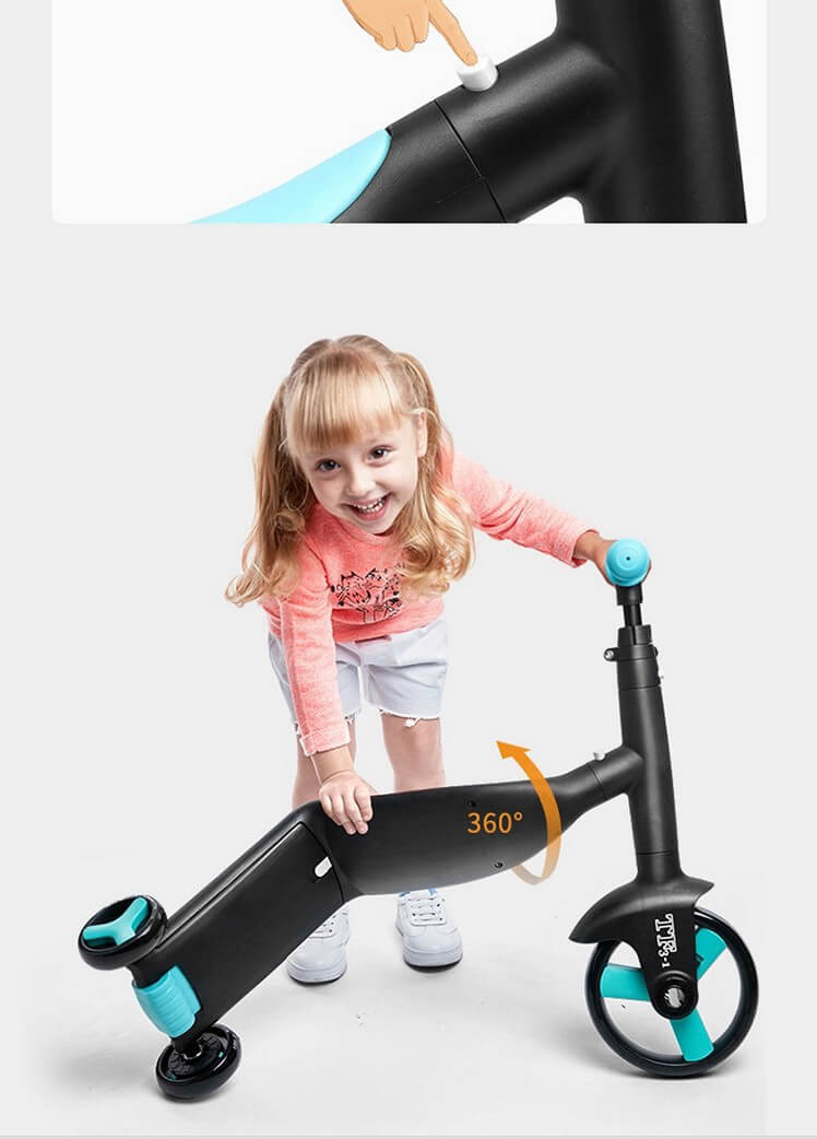 Трёхколёсный самокат-беговел-велосипед Nadle 3 в 1 - 8
