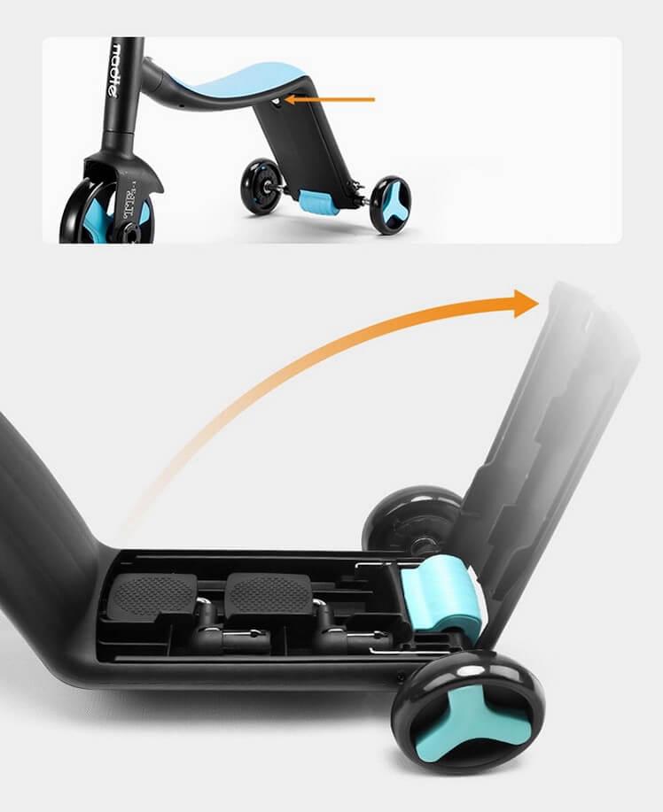 Трёхколёсный самокат-беговел-велосипед Nadle 3 в 1 - 9