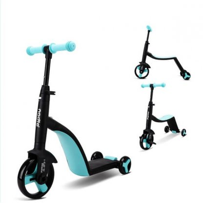 Трёхколёсный самокат-беговел-велосипед Nadle 3 в 1 - Голубой - 1