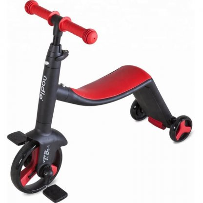 Трёхколёсный самокат-беговел-велосипед Nadle 3 в 1 - Красный - 3