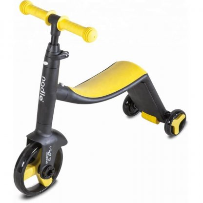 Трёхколёсный самокат-беговел-велосипед Nadle 3 в 1 - Жёлтый - 3