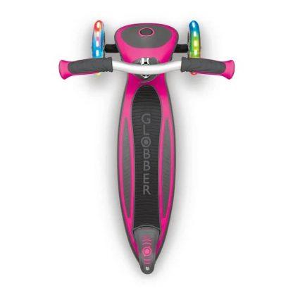 Трёхколёсный самокат со складной ручкой и светящимися колёсами Globber Master Lights Розовый 662-110 - 4
