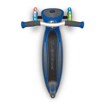 Трёхколёсный самокат со складной ручкой и светящимися колёсами Globber Master Lights Синий 662-100 - 4