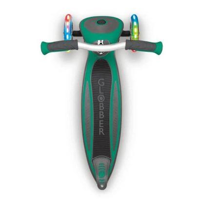 Трёхколёсный самокат со складной ручкой и светящимися колёсами Globber Master Lights Зелёный 662-106 - 4