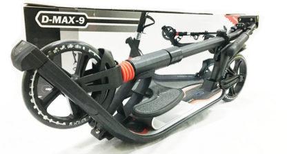 Городской самокат D-max 9 RW Sport Чёрно-красный с подставкой для ребёнка - 4