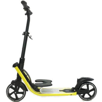 Городской самокат D-max 9 RW Sport Чёрно-жёлтый с подставкой для ребёнка - 1