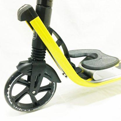 Городской самокат D-max 9 RW Sport Чёрно-жёлтый с подставкой для ребёнка - 2