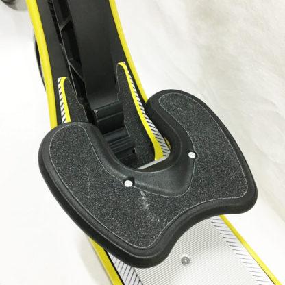 Городской самокат D-max 9 RW Sport Чёрно-жёлтый с подставкой для ребёнка - 3