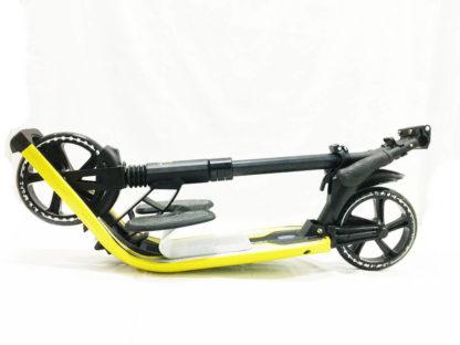 Городской самокат D-max 9 RW Sport Чёрно-жёлтый с подставкой для ребёнка - 6