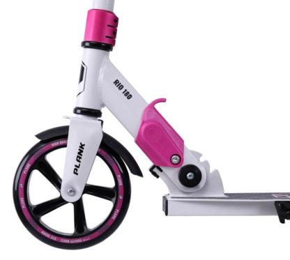 Самокат Plank Rio 180 Бело-розовый - переднее колесо