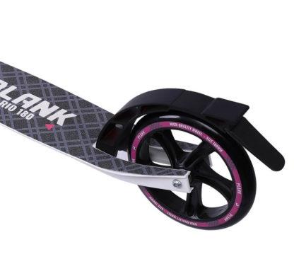 Самокат Plank Rio 180 Бело-розовый - заднее колесо