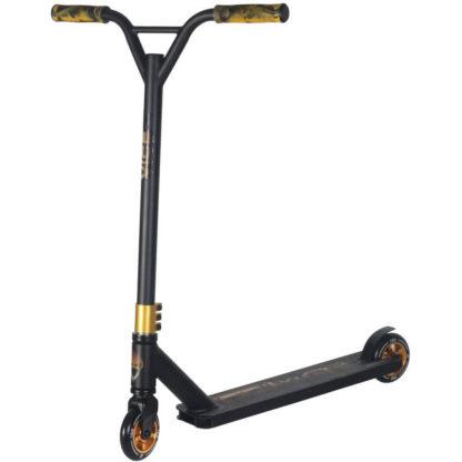 Трюковый самокат AT Scooters VICE чёрный-золотой