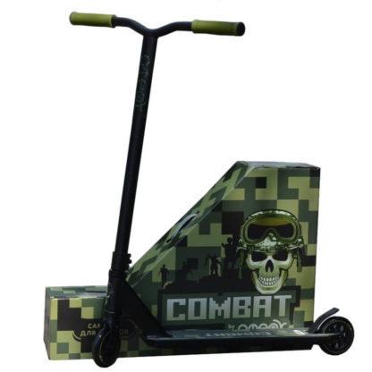 Трюковый самокат Ateox Combat Чёрный с коробкой