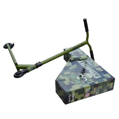 Трюковый самокат Ateox Combat Хаки с коробкой