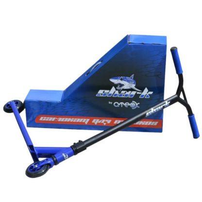 Трюковый самокат ATEOX SHARK Синий - с коробкой