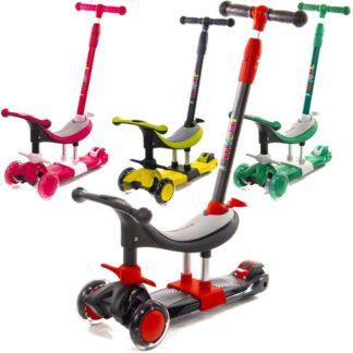 Детские трёхколёсные самокаты Scooter Micar Dino 3 в 1 - все цвета